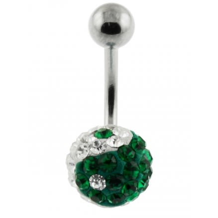 Multi Crystal stone Navel Ring FDBLY053