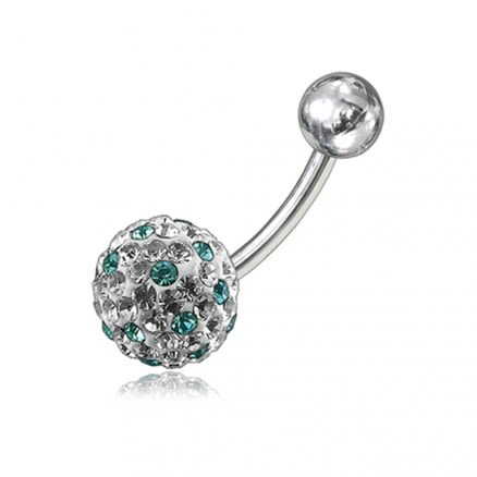 Crystal Stone Belly Ring FDBLY066