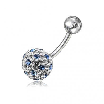 Crystal Stone Belly Ring FDBLY067