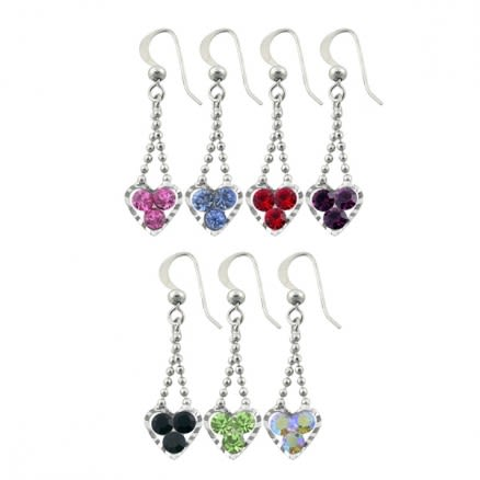Metal And Rhinestone Studded Costume Earring
