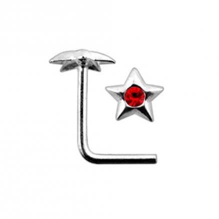 Pentagon Star L Nose Pin