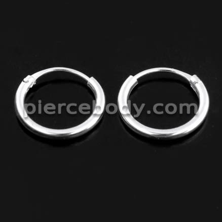 925 Sterling Silver Segment Hoop Nose Ring