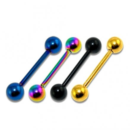316L Surgical steel Anodised Barbell with Ball