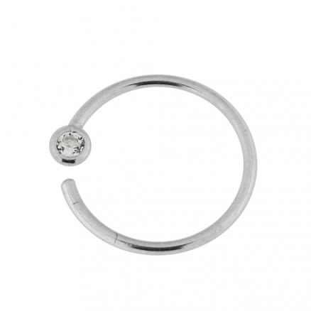 Open Hoop BCR 925 Sterling Silver Flower Nose and Ear Tragus Ring in Box