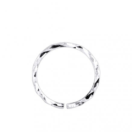 925 Sterling Silver Laser Cut Seamless Continuous Nose Hoop Ring