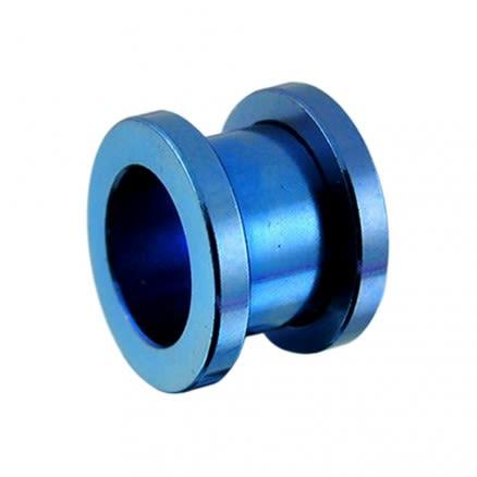 Dark Blue Screw Fit Flesh Tunnel