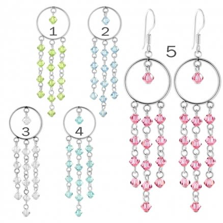 Crystal Beads Chandelier Earring