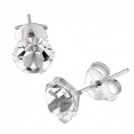5mm Jeweled Earring Silver Earring