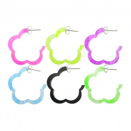 20mm UV React Fashionable Flower Earring