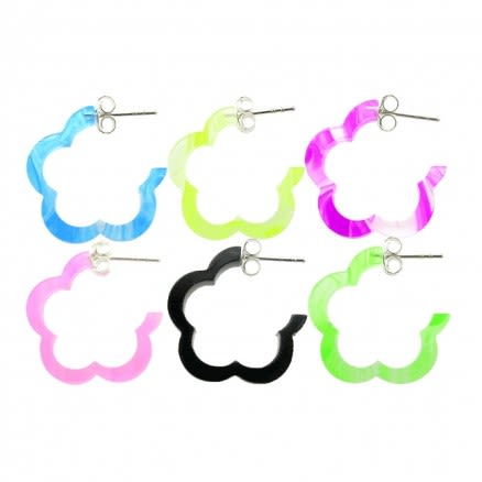 14mm UV React Fashionable Flower Earring