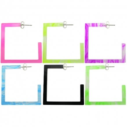 26mm UV React Fashionable Square Earring