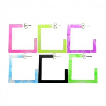 20mm UV React Fashionable Square Earring