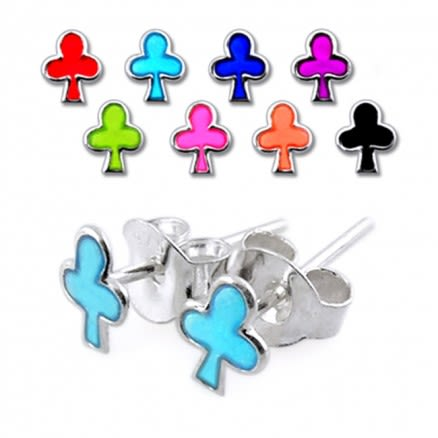 Casino Clever Silver Earring