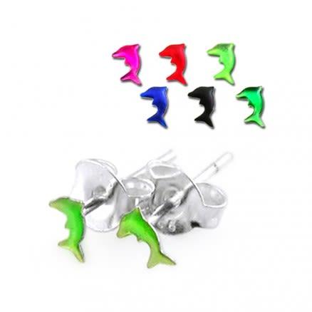 Dolphin Silver Earring