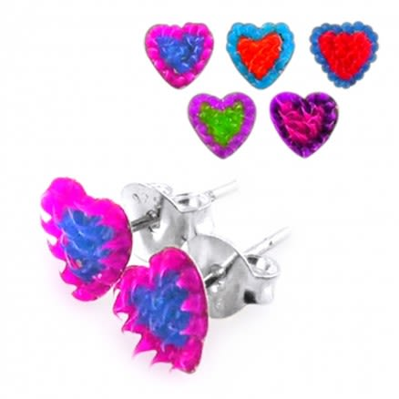 Heart Shaped Silver Earring