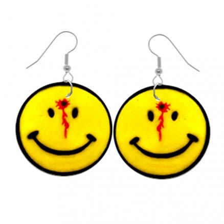 Bleeding Smiley Logo Earring