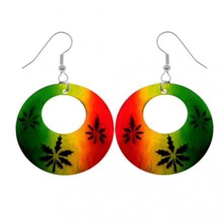 Marijuana Leaf Logo Earring Pishkapis Shell PACEAR358