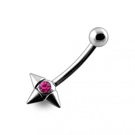 16G Jeweled Eyebrow with Orbit Cones