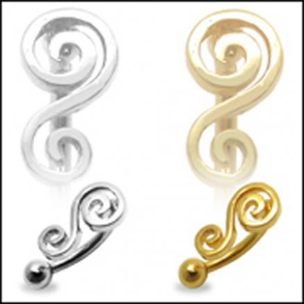 Filigree Musical Note Eyebrow Ring