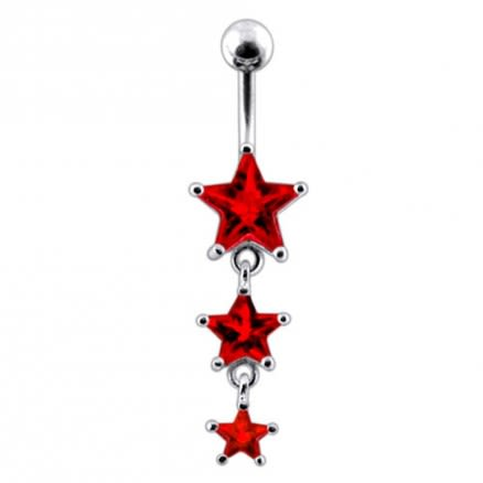 Moving Jeweled Star Body Jewelry