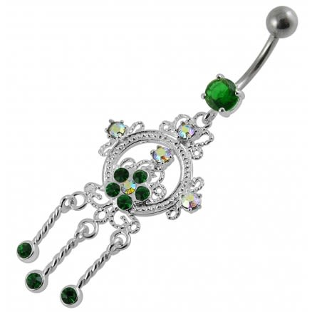 Fancy Moving Jeweled Navel Belly Ring