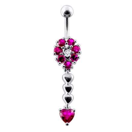 Jeweled Belly Button bar