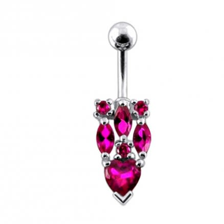 Fancy Jeweled Moving Navel Body Jewelry
