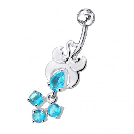 Fancy Design Jeweled Belly Ring