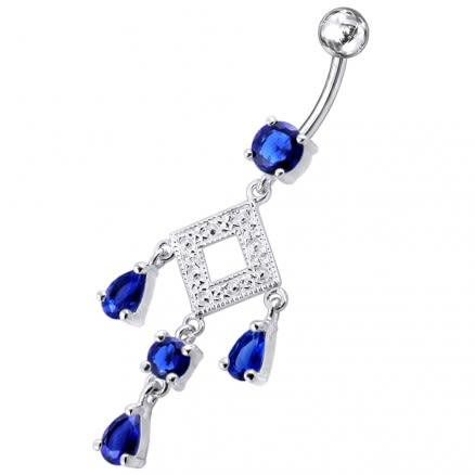 925 Sterling silver Belly Button Ring PBM0718