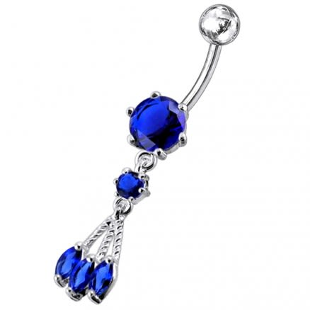 Surgical Grade Steel Curved Bar Belly Button Ring
