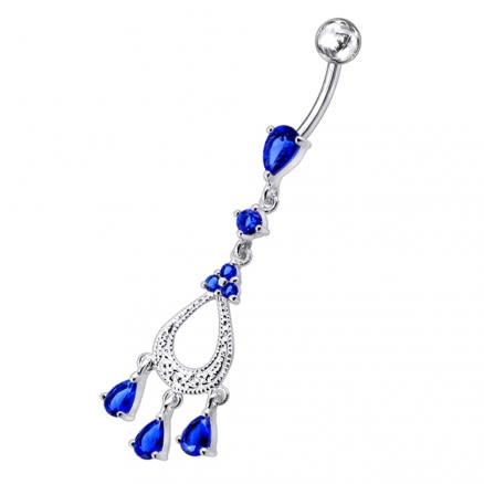 Silver Dangling Navel Body Jewelry