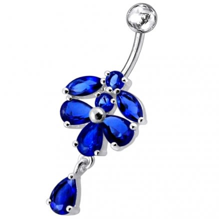 Elegant Pear Dangling Belly Moving Ring