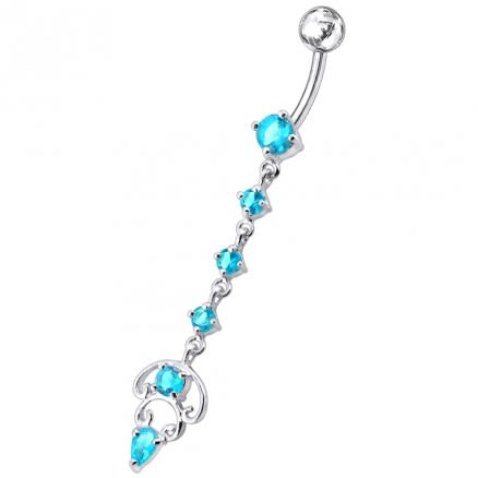 Longer Dangling Belly Moving Ring