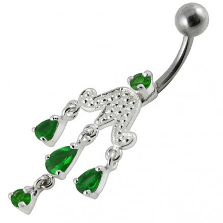 Chandelier Dangling Surgical Grade Steel Banana bar Belly Ring
