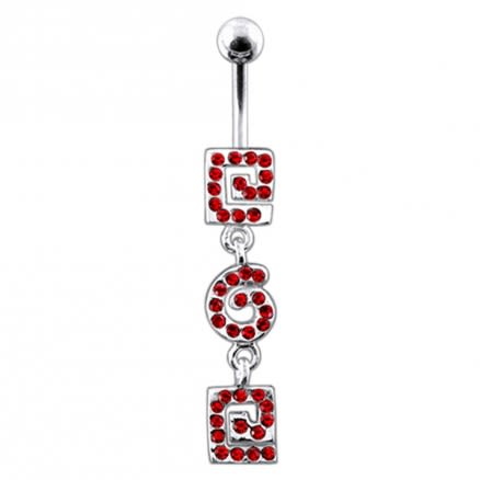 Fancy Buckle Dangling Belly Ring