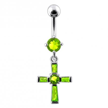 Fancy Cross Dangling Belly Ring