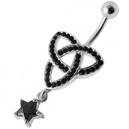 Mini Triple Celtic Dangling  Belly Ring