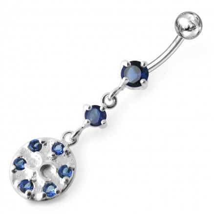Double C Dangling  Belly Ring