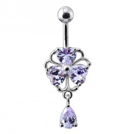 Dangling Heart Belly Ring
