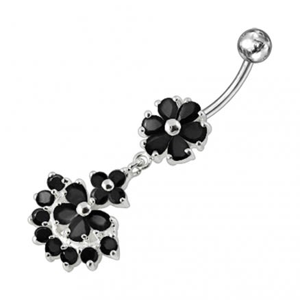 Dangling Flower Belly Bar
