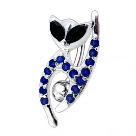 Fancy Jeweled Cat Dangling Reverse Belly Ring