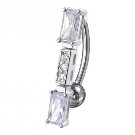 Fancy Jeweled Reverse Dangling Belly Ring
