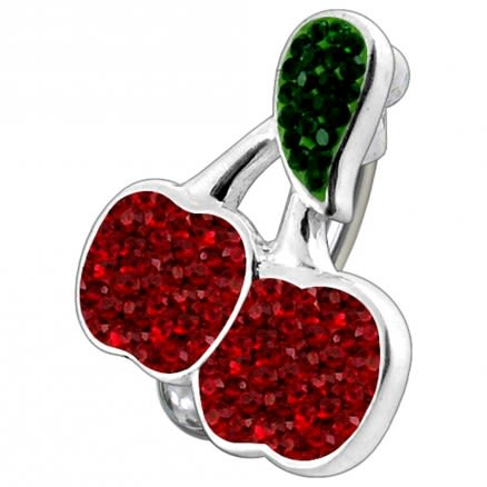 Fancy Jeweled Dangling Apples Reverse Belly Ring