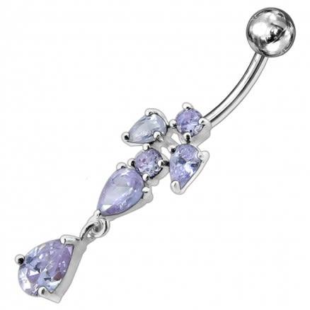 Fancy Jeweled Dangling Belly Ring Body Jewelry PBM1608