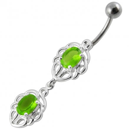 Fancy Jeweled Dangling Belly Ring