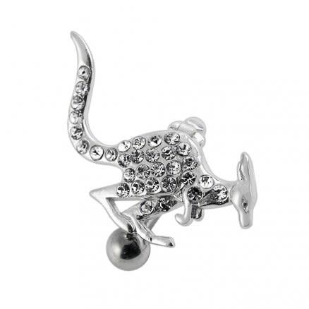 Jeweled Fancy kangaroo Dangling Belly Ring