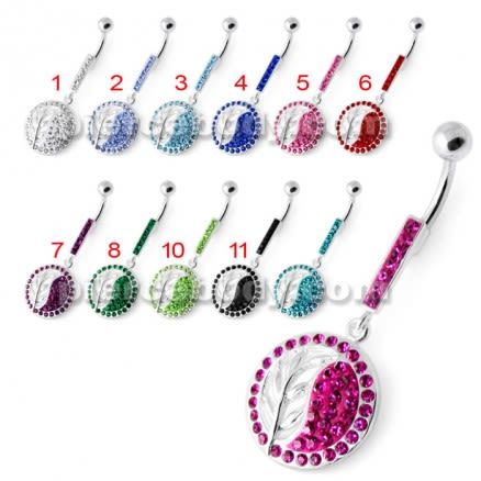 Multi Jeweled Moving Navel Belly Bar