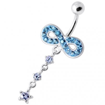 Infinity with Star Jeweled Navel Ring