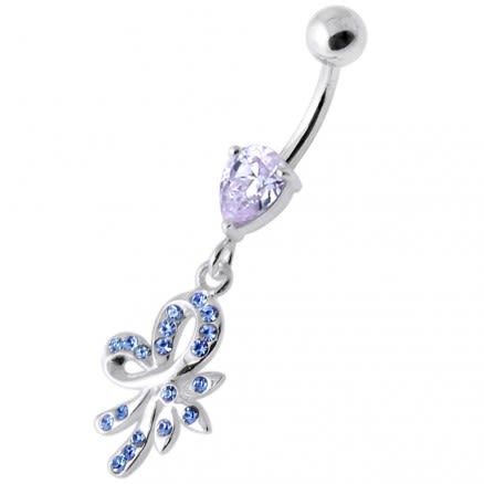 Fancy Jeweled Dangling Navel Banana PBM2085