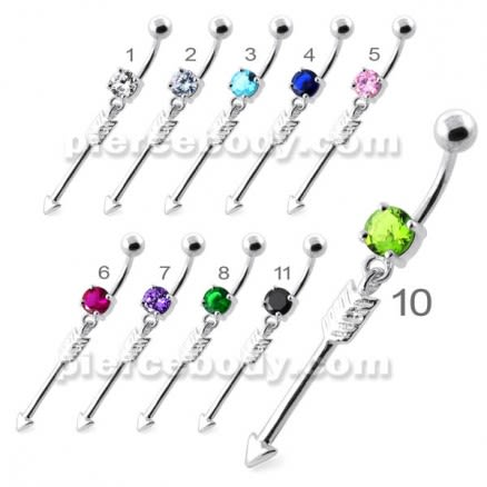 Trendy Arrow belly button bars